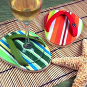 Cabana Strip Flip-Flop Coasters