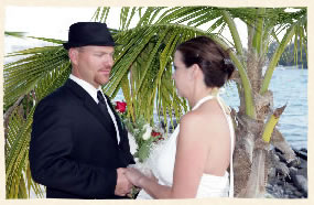 Vows under a palm tree
