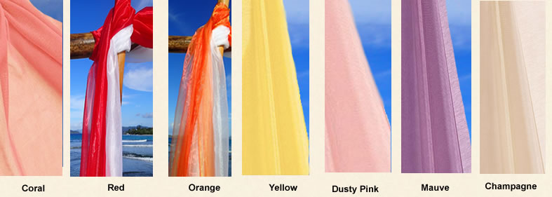 fabric colors for beach arch