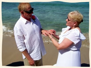 married at Bluebeards Beach St Thomas Virgin Islands
