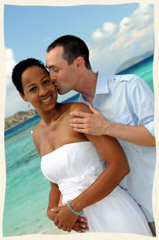 Michelle & Bryan married aboard sailboat in the Virgin Islands