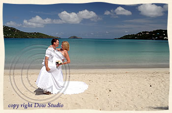 married at Magens Beach