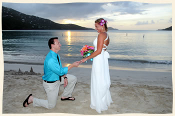 Magens Beach Sunset Wedding