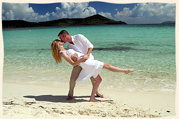 Happy Couple Married at Lindquist Beach St. Thomas Virgin Islands