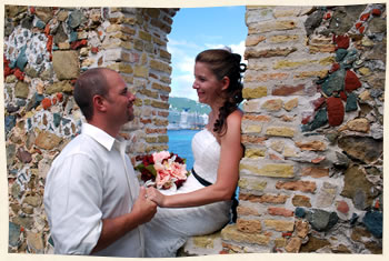 Married on Hassel Island at the Historical Fort