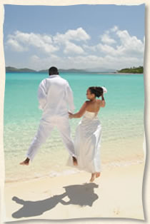 Wedding in St Thomas at tropical beach / Lindquist Beach