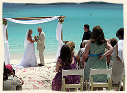 Married at Lindquist Beach St Thomas Virgin islands