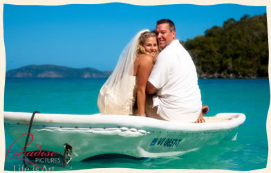 Boating Wedding St Thomas