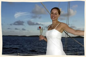 Virgin Islands Bride at sea
