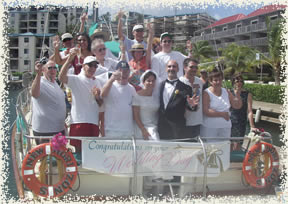 st thomas wedding on sailboat