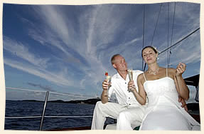 very nice wedding sail