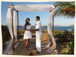 wedding at Pretty Klip Point St Thomas