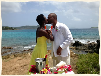 married at pretty klip point st thomas